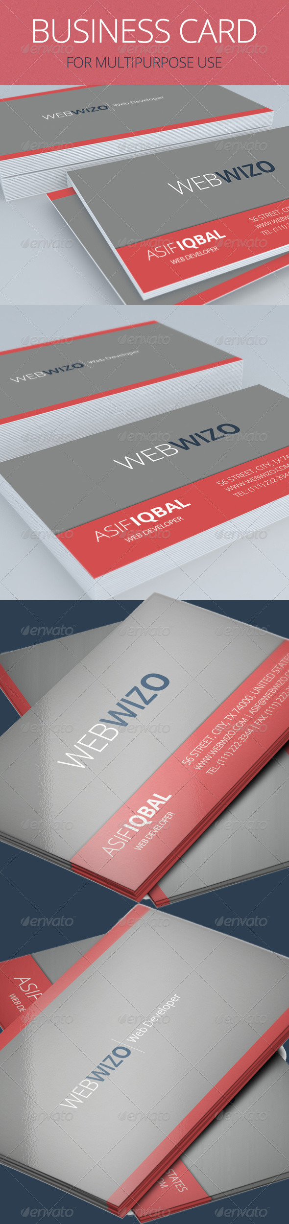GraphicRiver Multipurpose Business Card 5627035