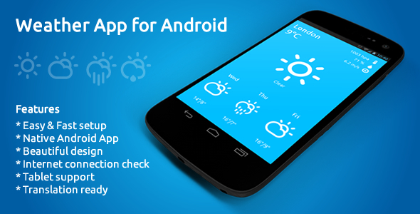 Weather App for Android - CodeCanyon Item for Sale