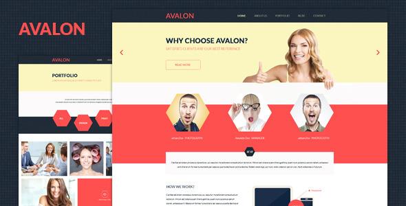 ThemeForest Avalon- PSD Corporate Template 5627095