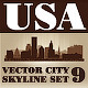 Vector City Skyline USA Set Number 9 - GraphicRiver Item for Sale