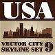 Vector City Skyline USA Set Number 9 - GraphicRiver Item for Sale