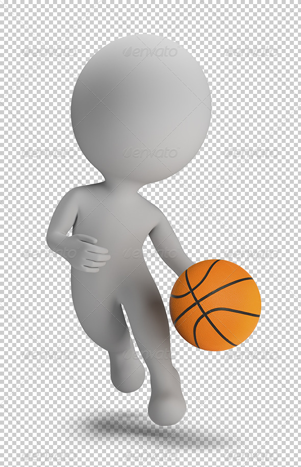 GraphicRiver 3D Small People Basketball Player 5628988