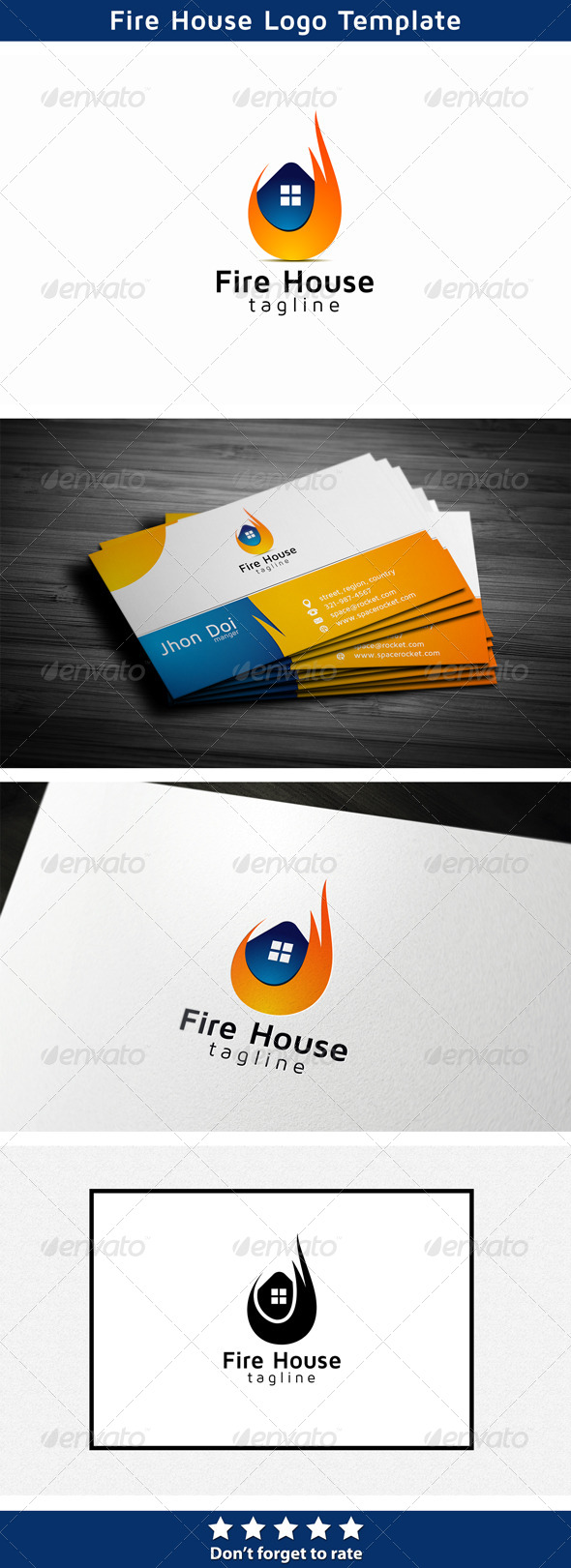 Fire House - Buildings Logo Templates