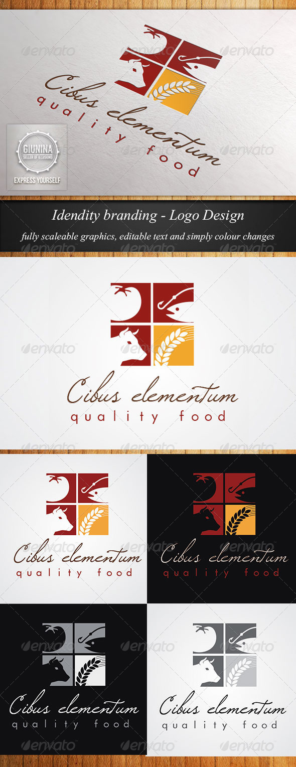 GraphicRiver Food Catering Logo Template 5630194