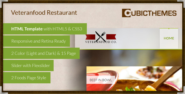 ThemeForest Veteranfood Handcrafted Restaurant 5615415
