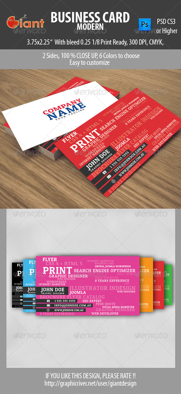 GraphicRiver Business Card Modern 5630820