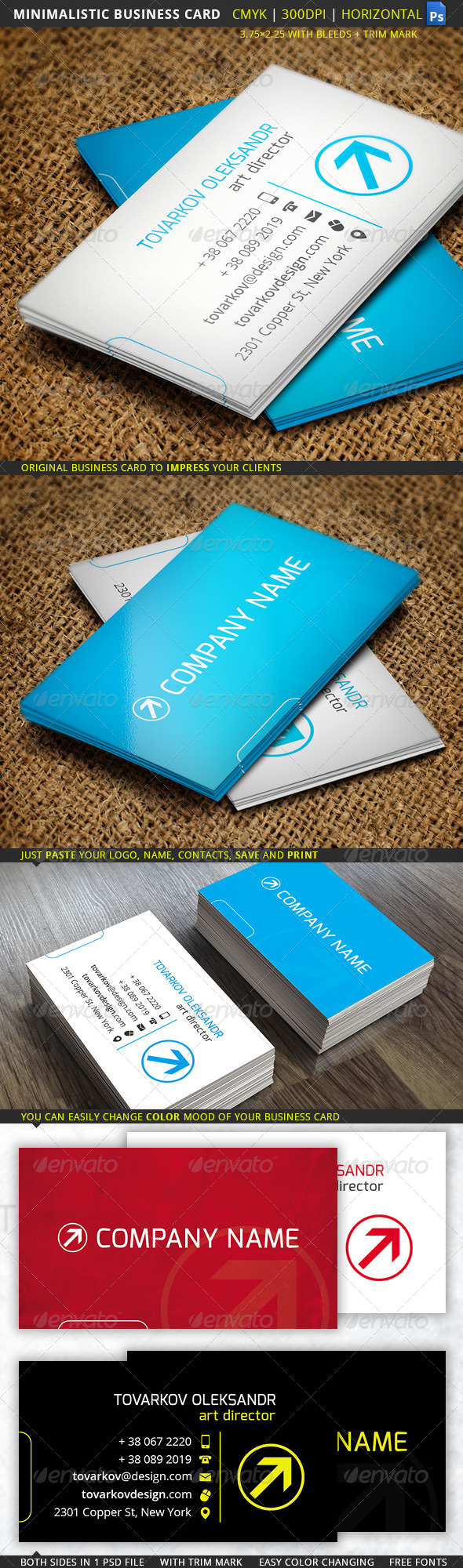 GraphicRiver Minimalistic Business Card 5631230