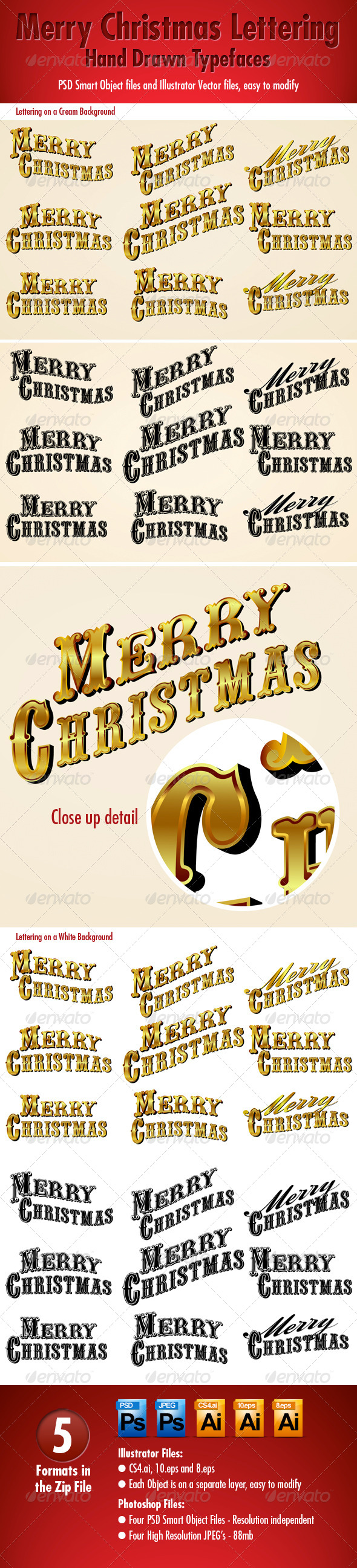 GraphicRiver Merry Christmas Lettering 5622547