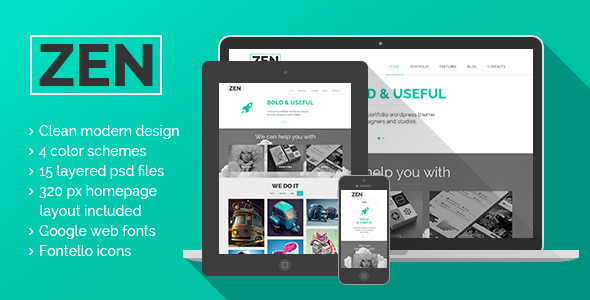 ThemeForest ZEN Portfolio  Blog  PSD themes 5631927