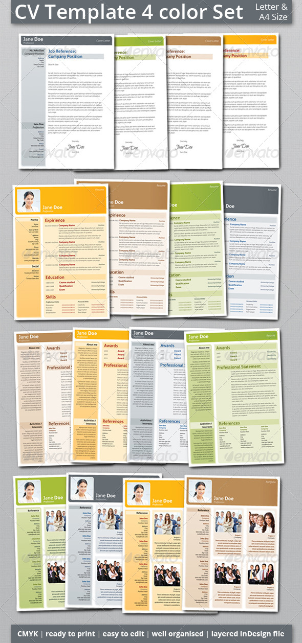 GraphicRiver CV Resume Template Set 5632235