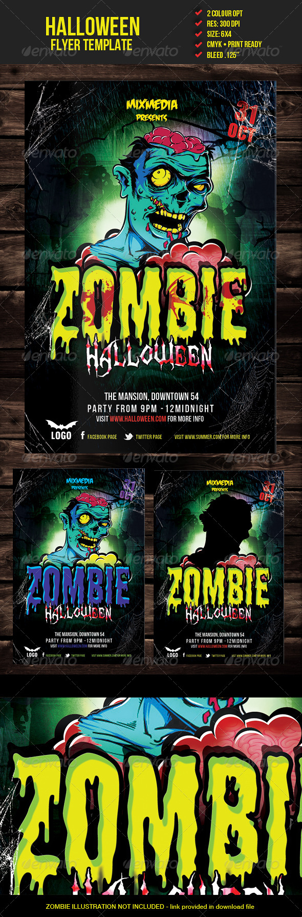 GraphicRiver Zombie Halloween Flyer Template 5633664