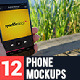 12 Realistic Phone Mockups - GraphicRiver Item for Sale