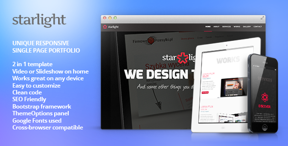 ThemeForest Starlight Responsive WordPress Portfolio 5634319