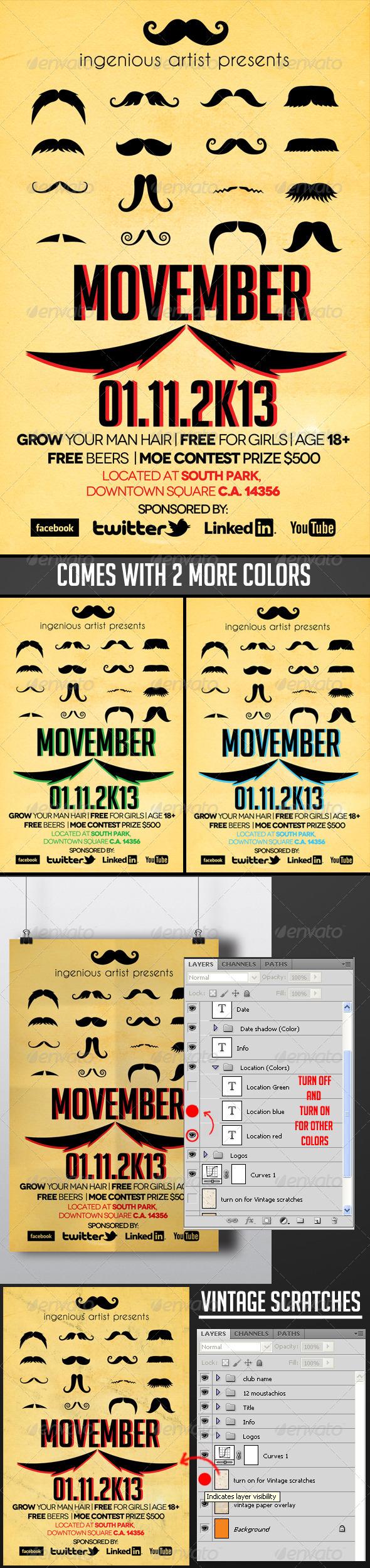 GraphicRiver Movember Flyer Vol.1 5635015