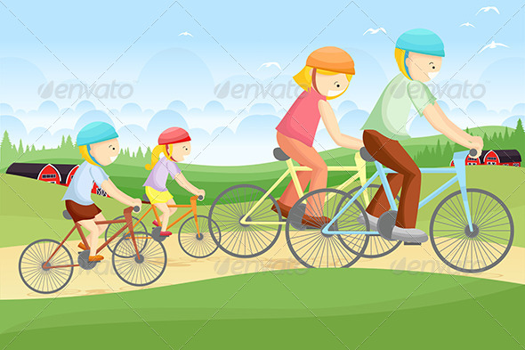 GraphicRiver Family Biking 5635054