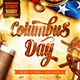 Columbus Day Party Poster - GraphicRiver Item for Sale