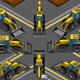 Isometric Yellow Backhoe in Eight Positions - GraphicRiver Item for Sale