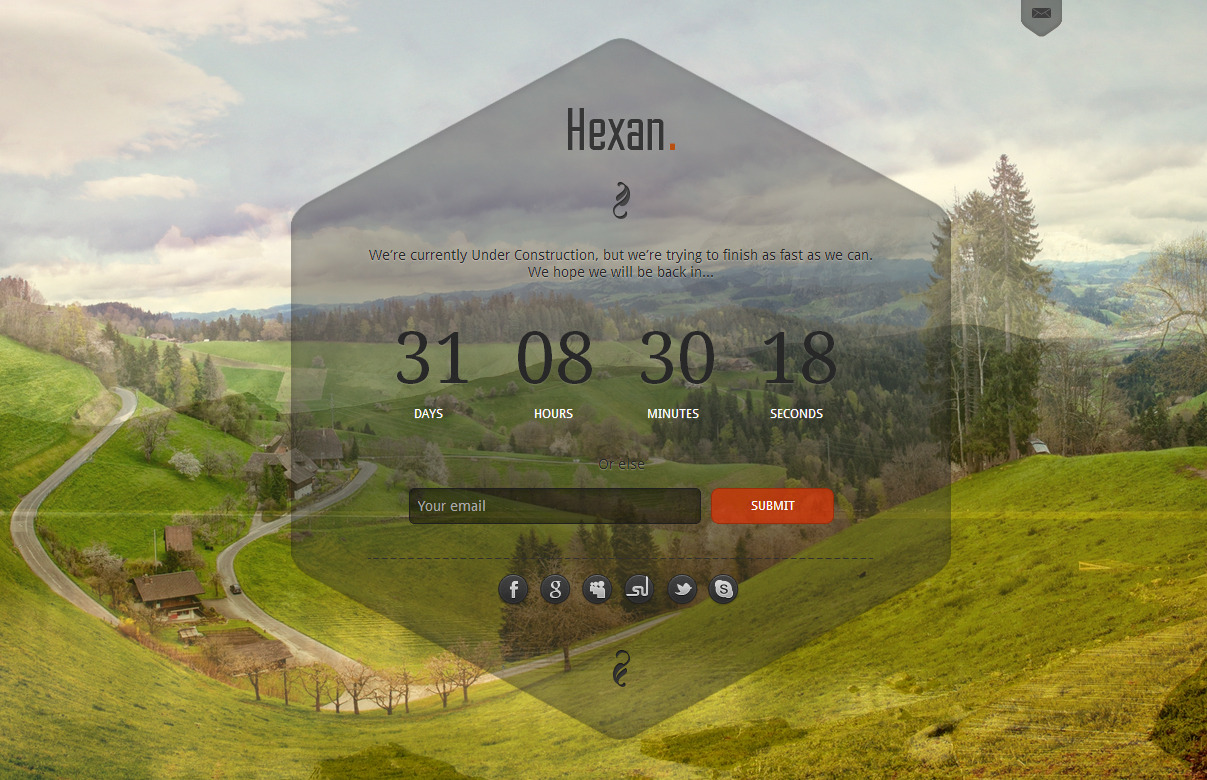 Hexan - Responsive Under Construction template