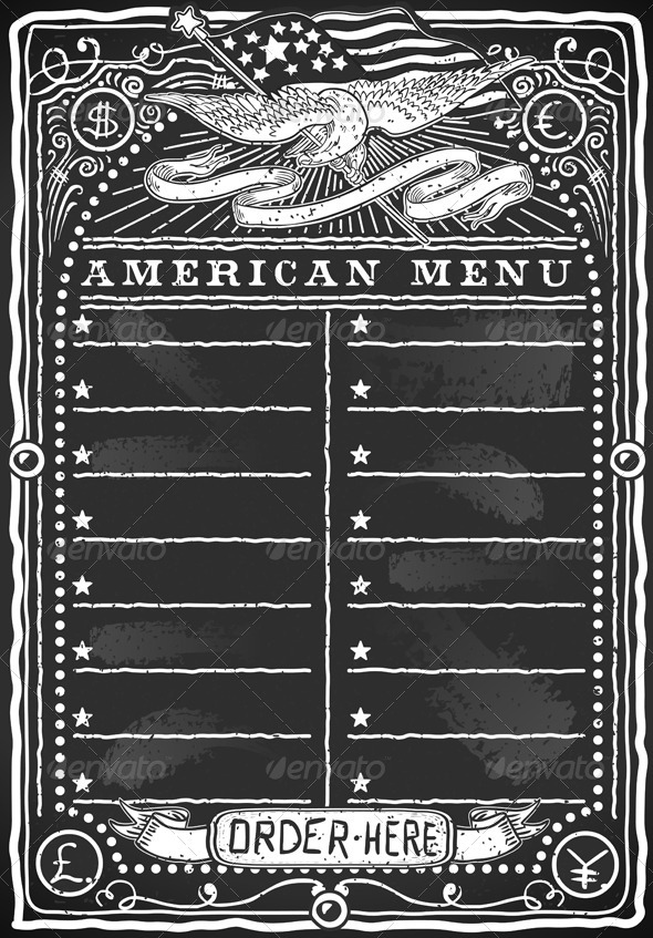 GraphicRiver Vintage Graphic Blackboard for American Menu 5636282