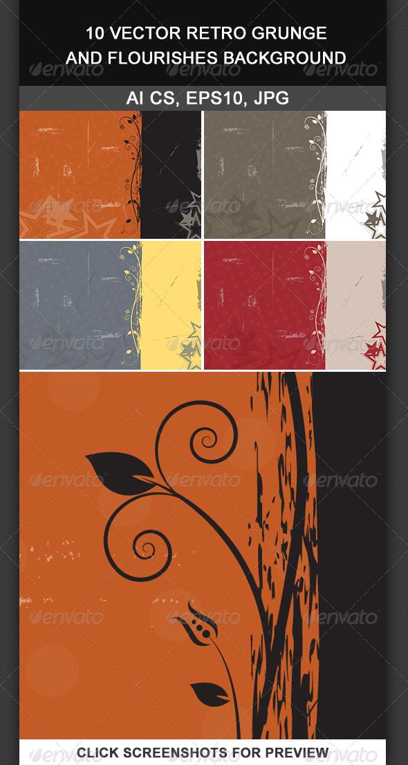 GraphicRiver 10 Vector Retro Grunge Background 5636378