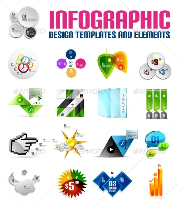 GraphicRiver Modern Colorful Infographic Templates and Elements 5636480