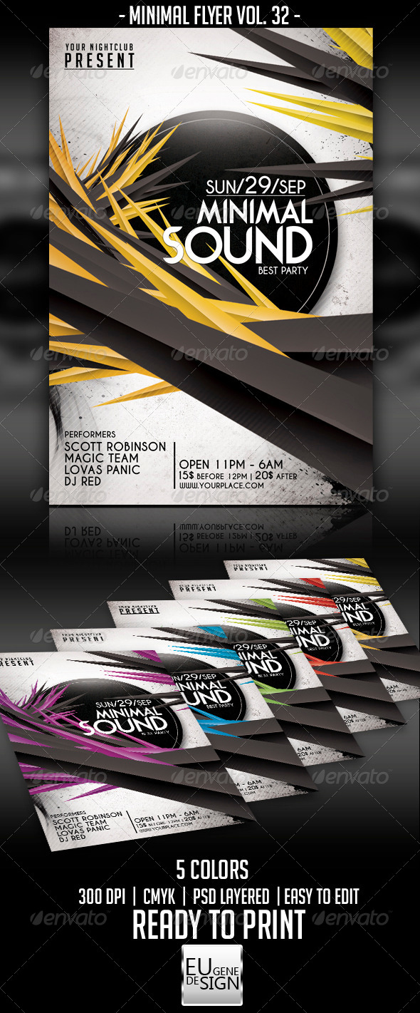 GraphicRiver Minimal Flyer Vol 32 5636660