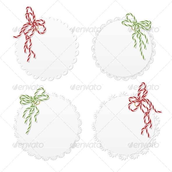 GraphicRiver Lace Hang Tags with Bows 5636841