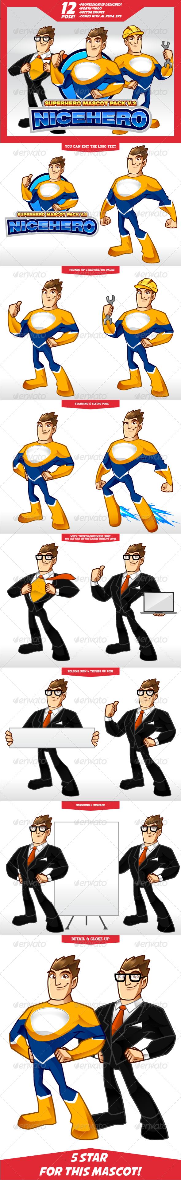GraphicRiver Complete Superhero Mascot V.2 5630630