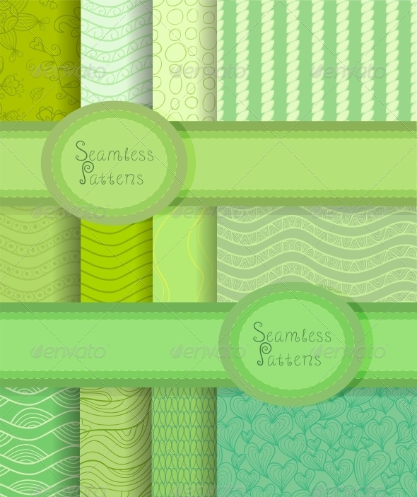 GraphicRiver Vector Seamless Patterns Set 5636952