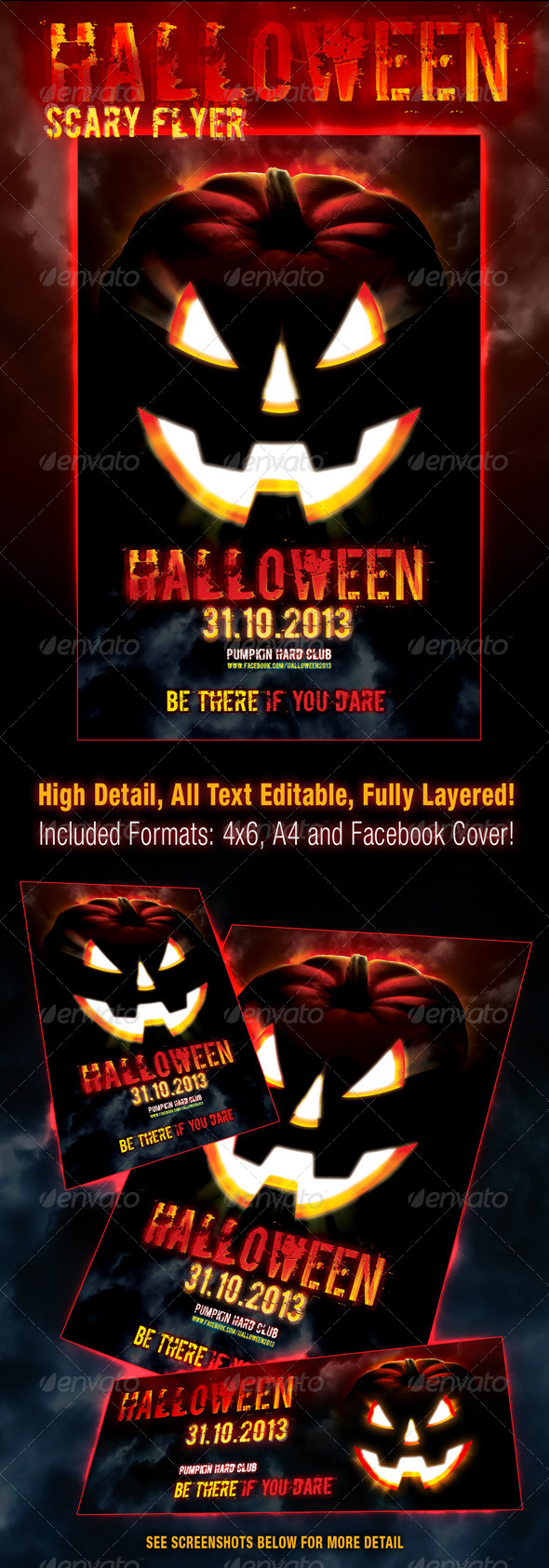 Halloween Scary Flyer - Events Flyers