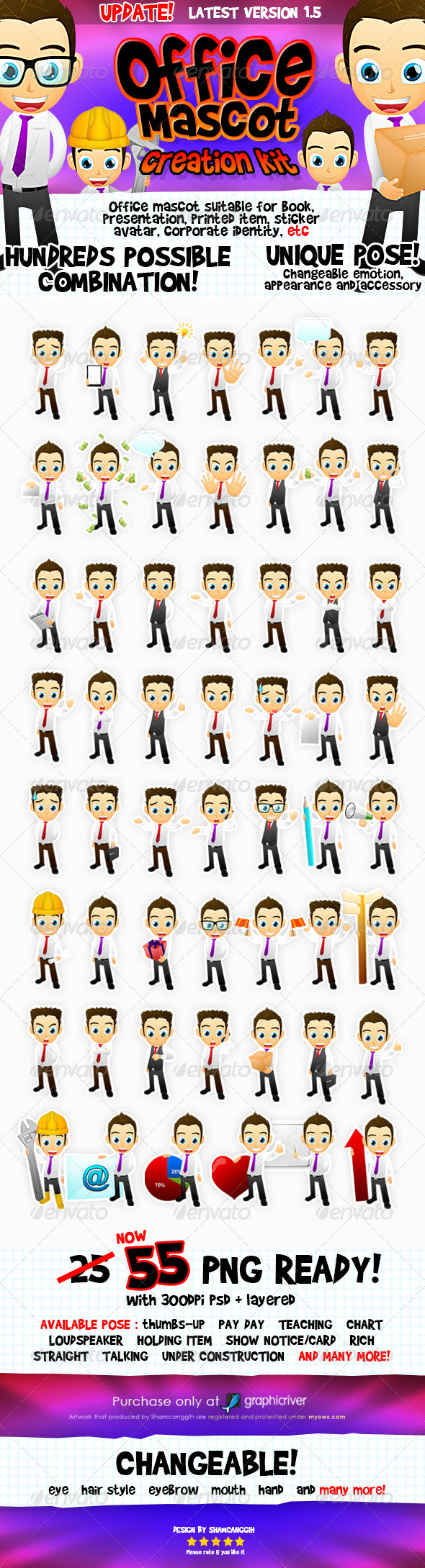 Male Office And Business Mascot - Characters Illustrations