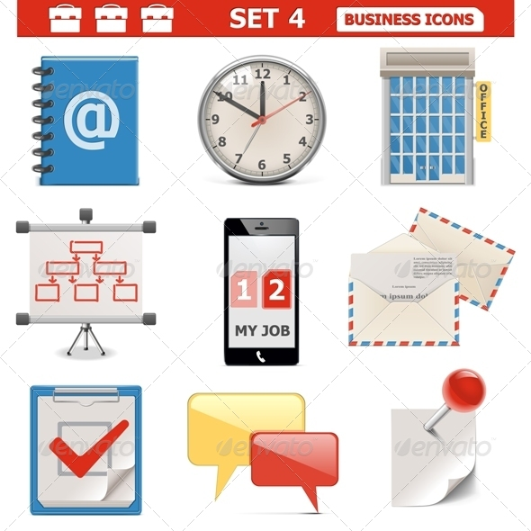 GraphicRiver Vector Business Icons Set 5637222