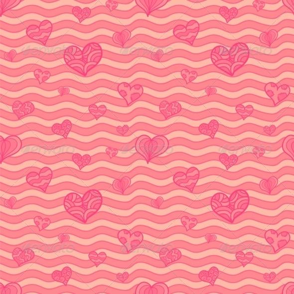 GraphicRiver Valentine Seamless Pattern 5637383