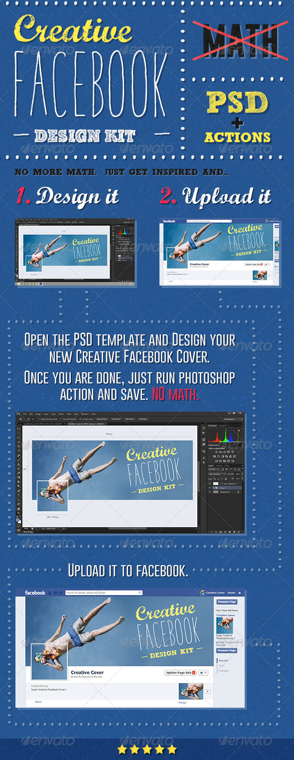 Creative Facebook Cover Creation Kit - Utilities Actions