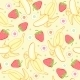 Seamless Background with Strawberries and Bananas - GraphicRiver Item for Sale