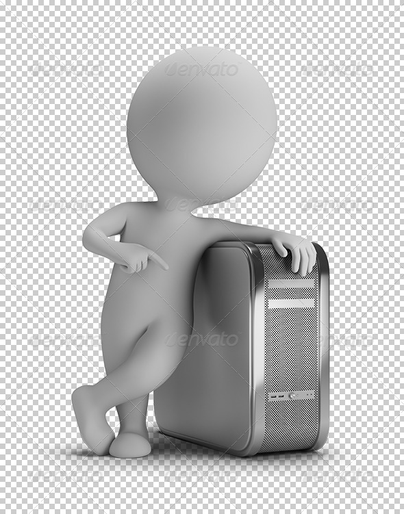 GraphicRiver 3D small people PC 5638628