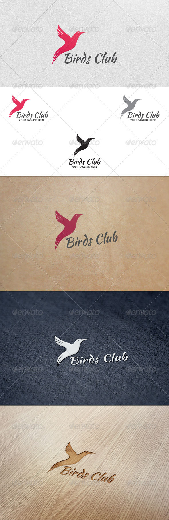 GraphicRiver Birds Club Logo Template 5639612