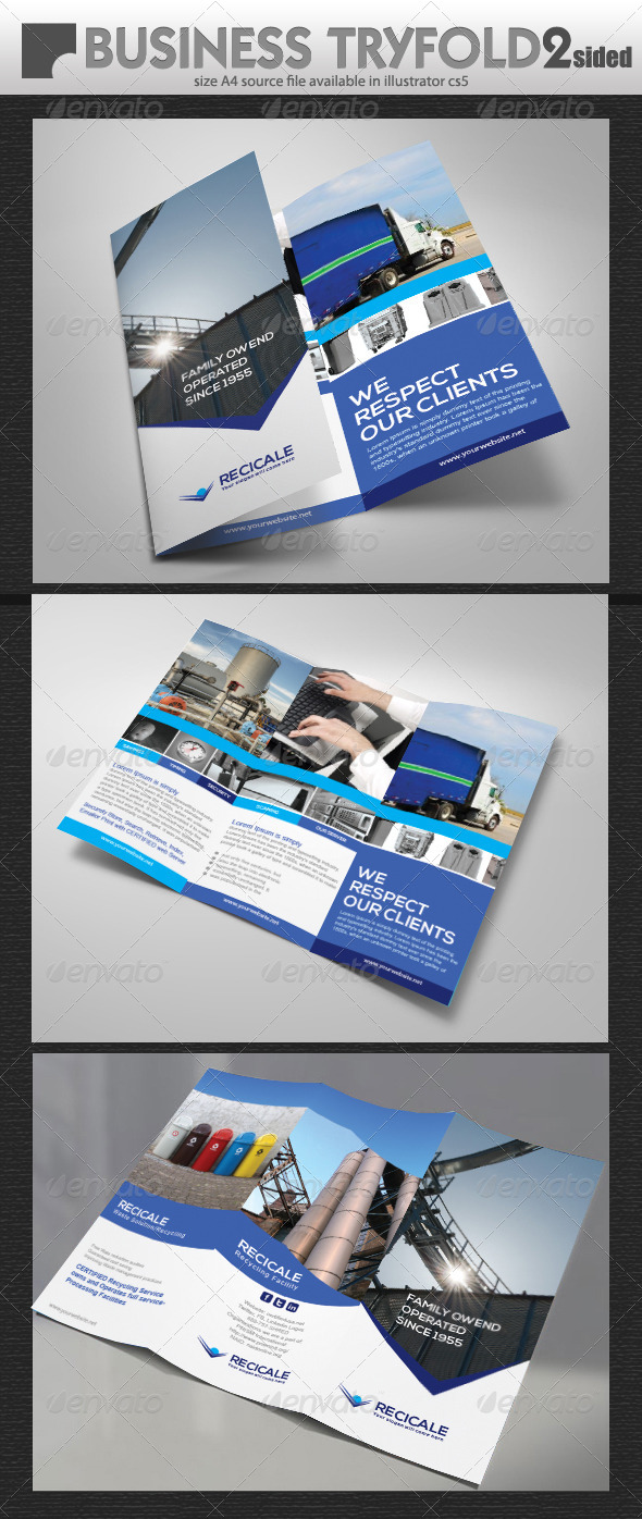 GraphicRiver Recycling Brochure Design 5567281