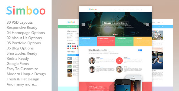 Aloha – One Page Web Design Company PSD Template