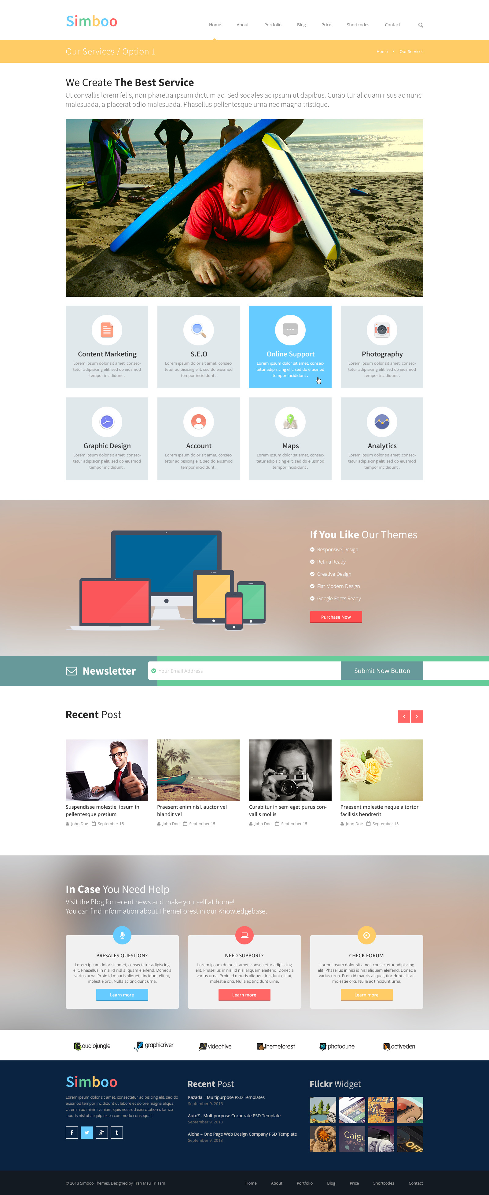 Simboo - Multi Purpose PSD Template