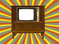 Old television and retro  sun rays - PhotoDune Item for Sale