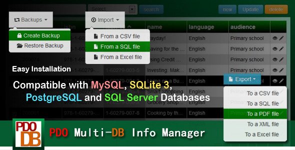 PDO Multi-DB Info Manager (Database Abstractions) images