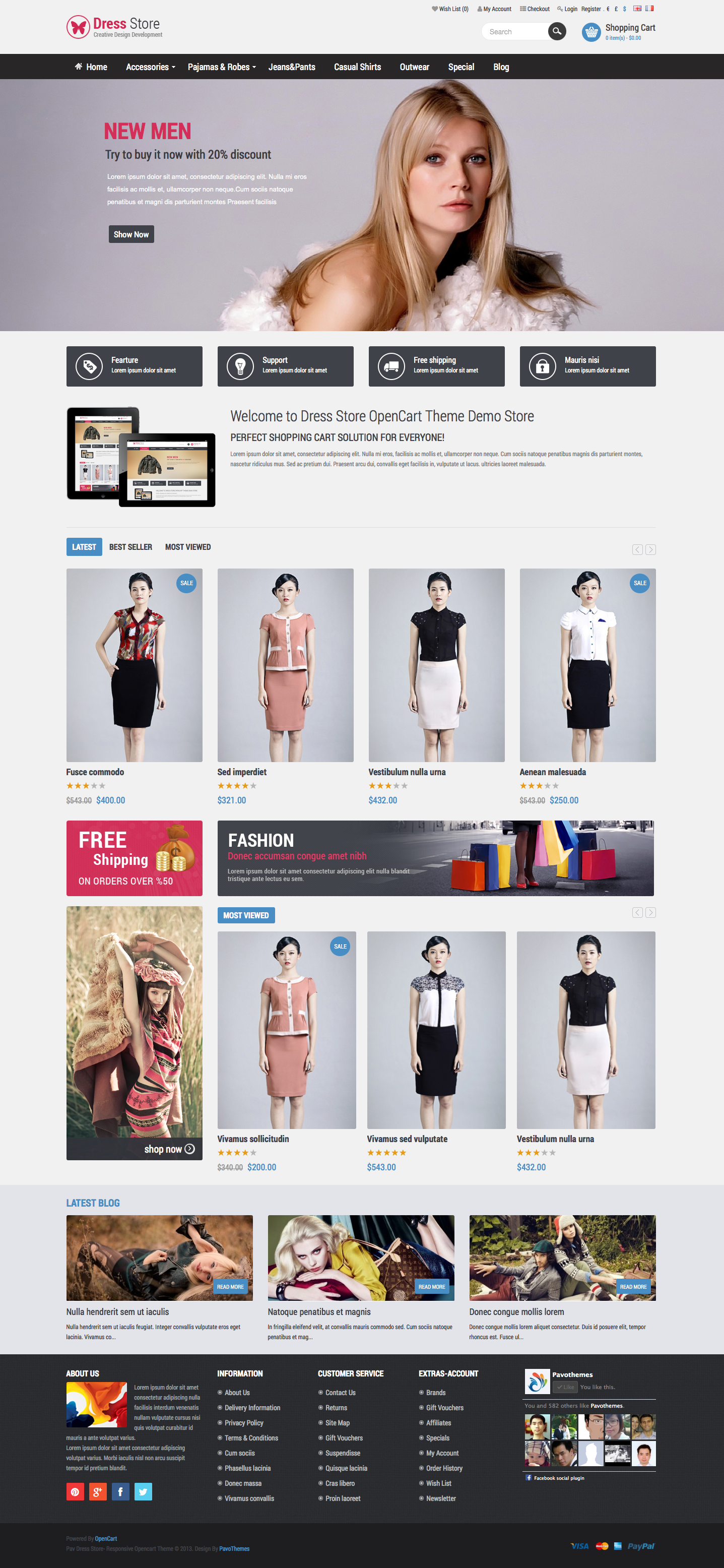 Pav Dress Store Responsive Opencart Theme