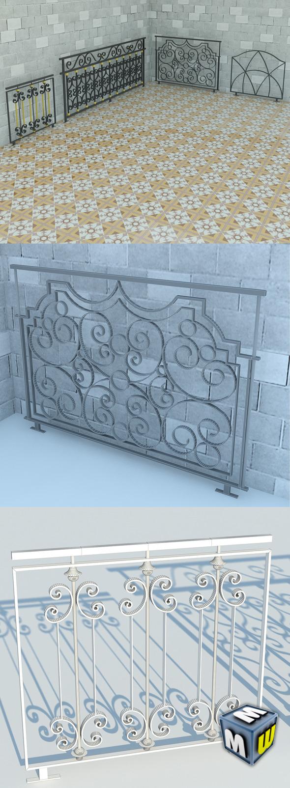3DOcean Railing Art Max 2011 5641330