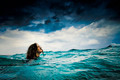 Fearless Swimming in Storm - PhotoDune Item for Sale