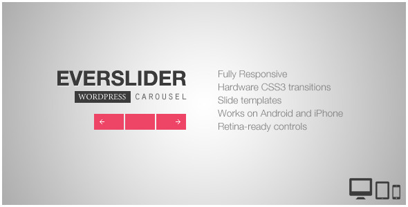 CodeCanyon Everslider Responsive WordPress Carousel Plugin 5631013