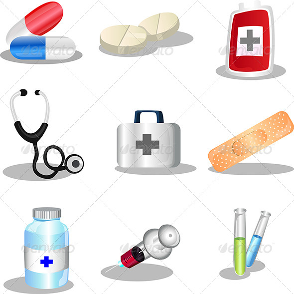 GraphicRiver Medical icons 5641830