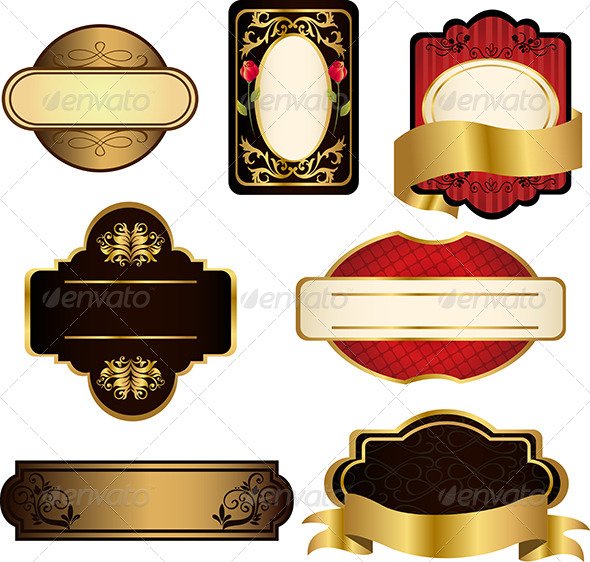 GraphicRiver Black and Gold Frames 5641850