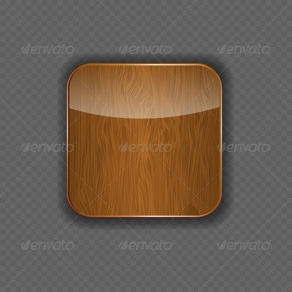GraphicRiver Wood Application Icon Vector Illustration 5642275