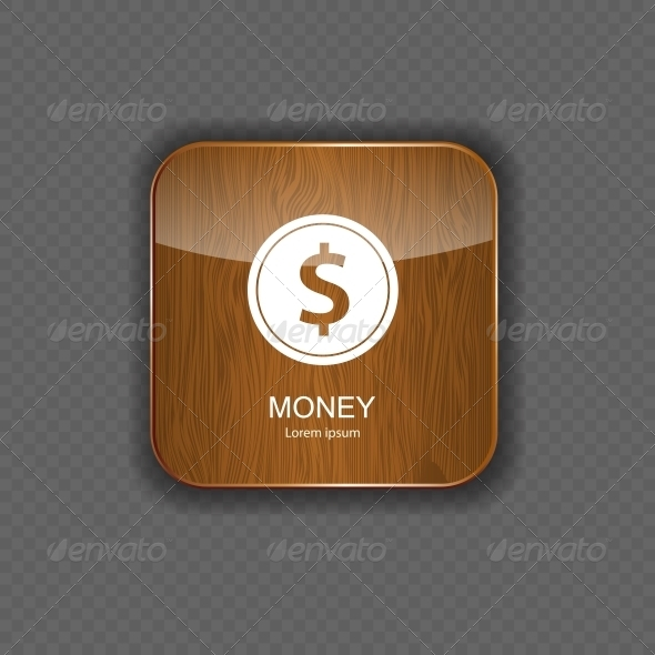 GraphicRiver Money Wood Application Icons 5642278